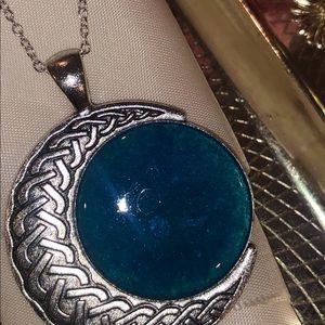 Evalina's Creations Jewelry - Deep blue moon pendant